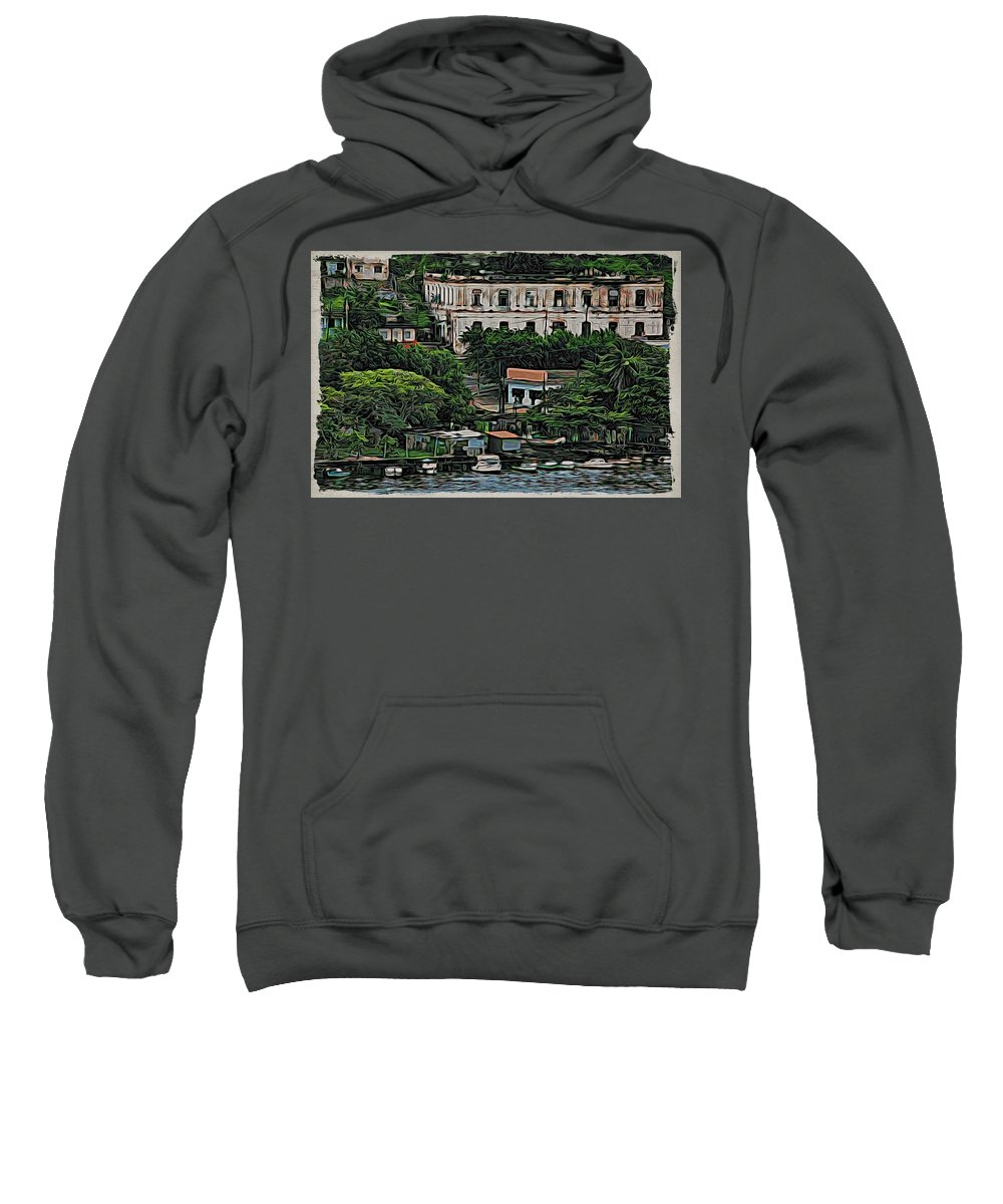 Alicegipsonphotographs Sweatshirt featuring the photograph Havana Boats In A Row by Alice Gipson