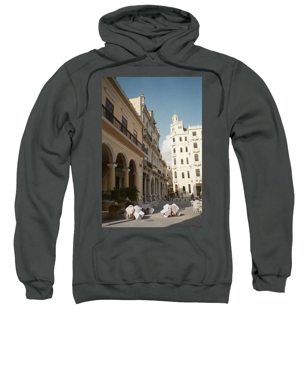 Photo Sweatshirt featuring the photograph Havana Vieja by Quin Sweetman