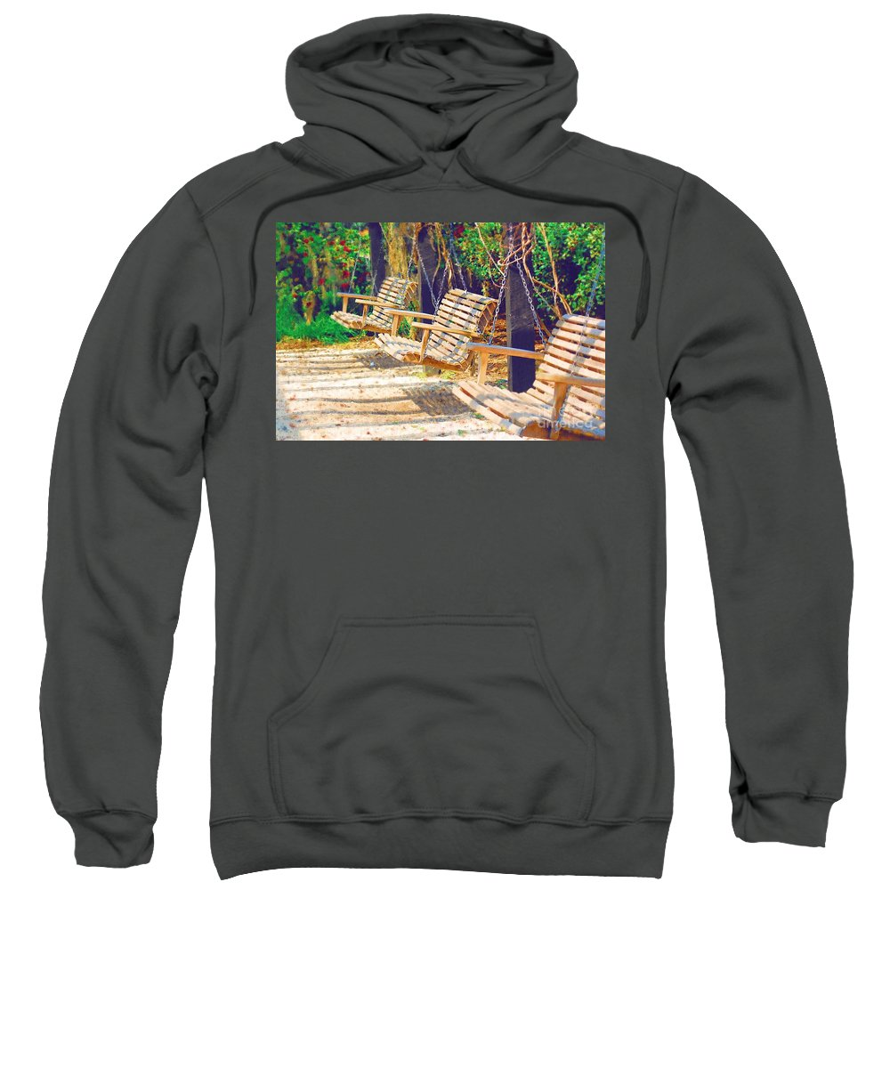 Swing Sweatshirt featuring the photograph Have A Seat Relax by Donna Bentley