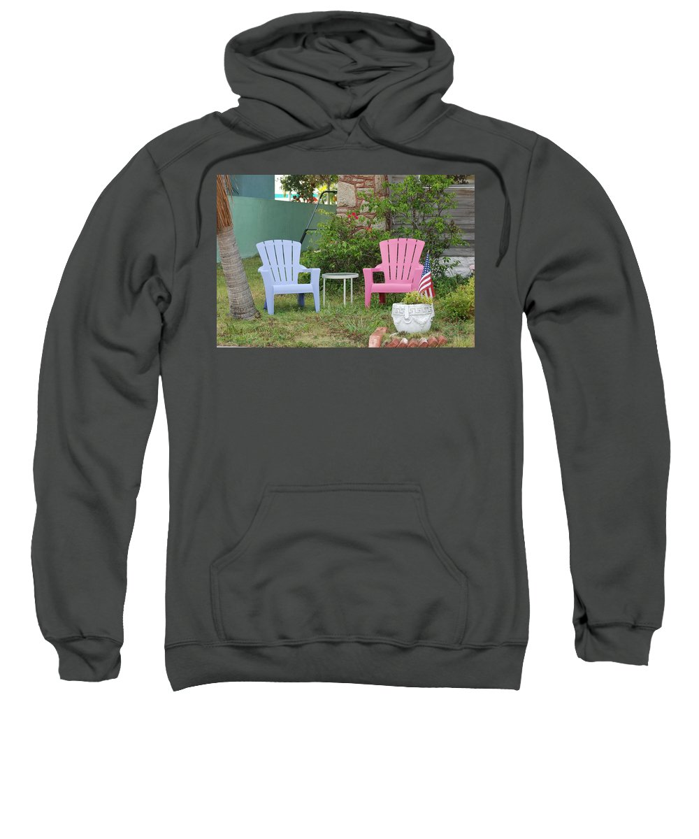 Art Deco Sweatshirt featuring the photograph Have A Seat by Rob Hans