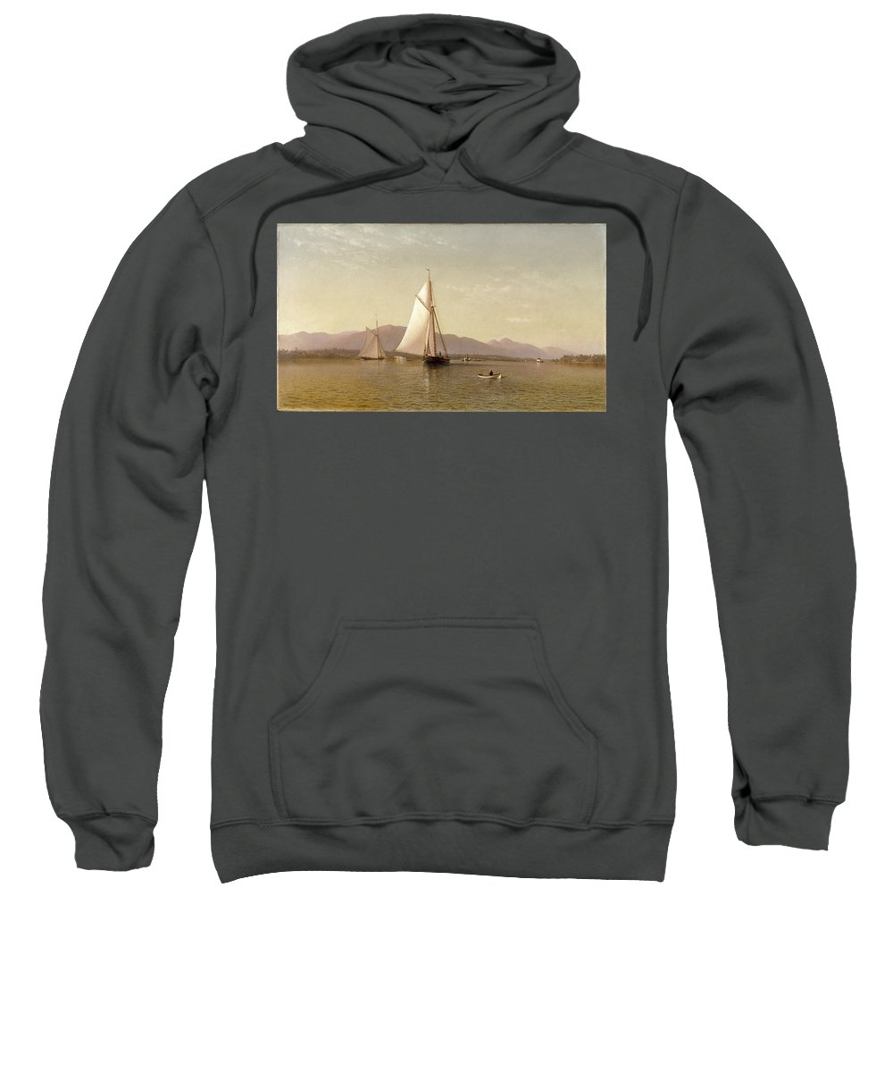 Haverstraw Bay. New York By Francis Augustus Silva Sweatshirt featuring the painting Haverstraw Bay by Francis Augustus Silva