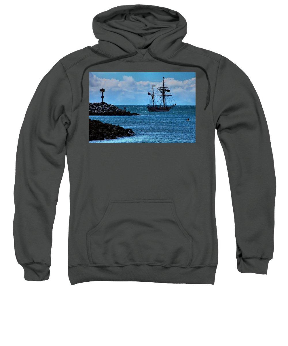 Tall Ship. Hawaiian Chieftain Sweatshirt featuring the photograph Hawaiian Chieftain-2 by Michael Gordon