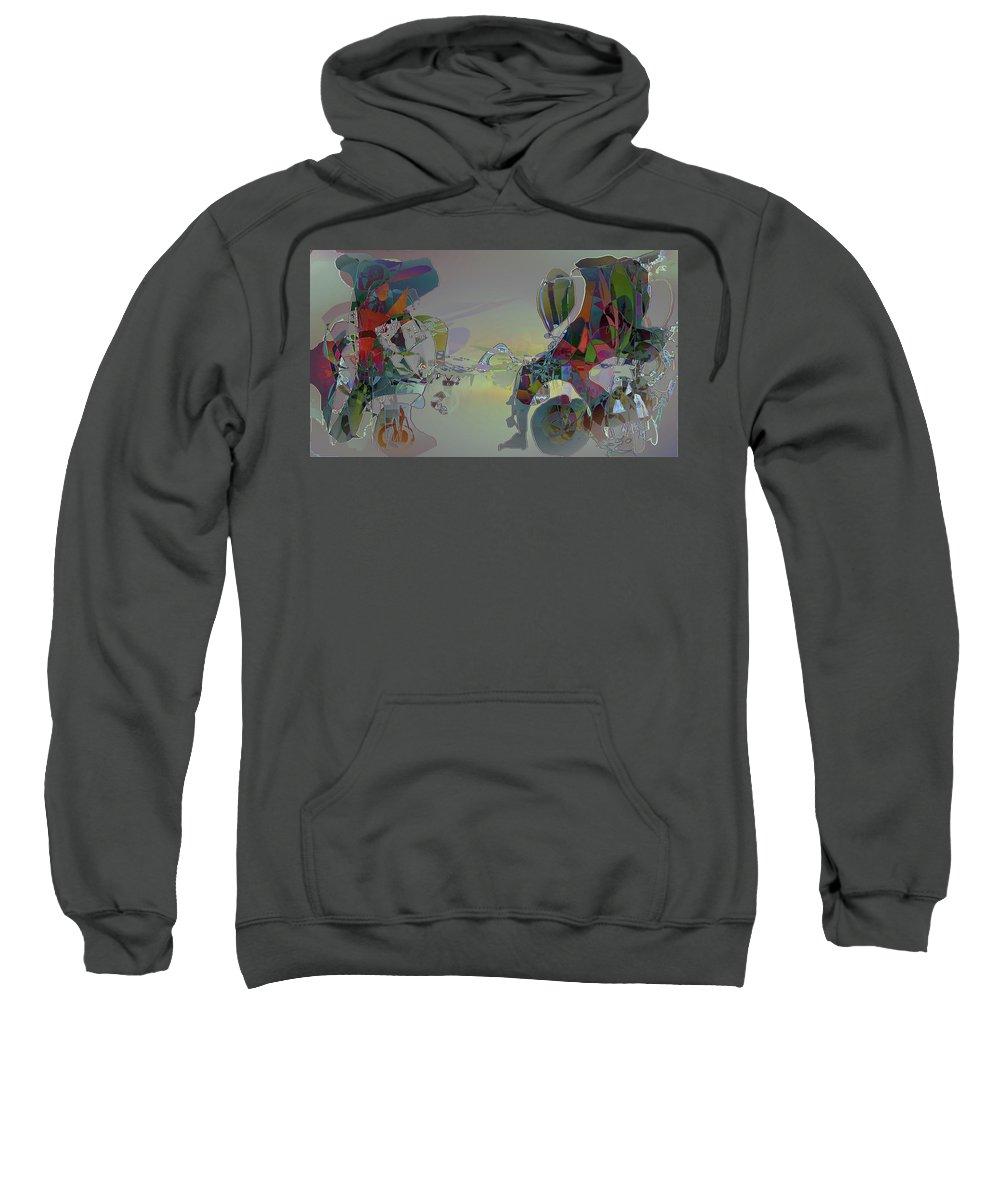 Abstract Sweatshirt featuring the digital art Hazerunner by Sean Connolly