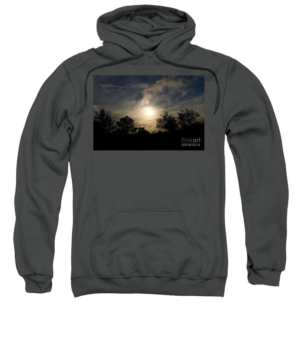 Marie Sweatshirt featuring the photograph Hazy Evening Sun by Marie Webb
