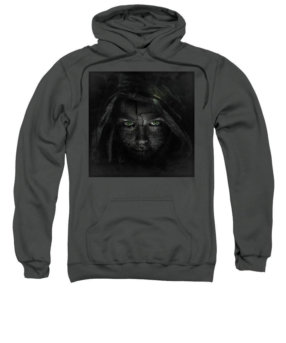 Surreal Sweatshirt featuring the digital art Hazy Shadows by Joao Fe
