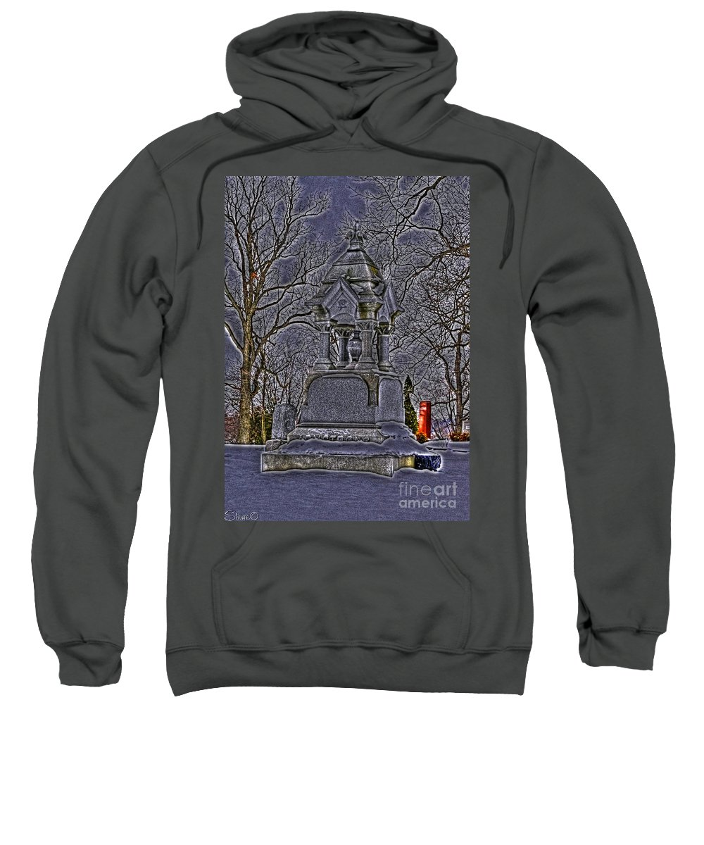 Hdr Sweatshirt featuring the photograph Hdr Graveyard 1 by September Stone