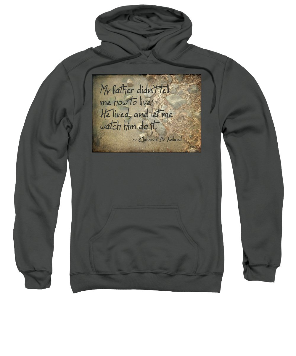 Wright Sweatshirt featuring the photograph He Let Me Watch Him by Paulette B Wright