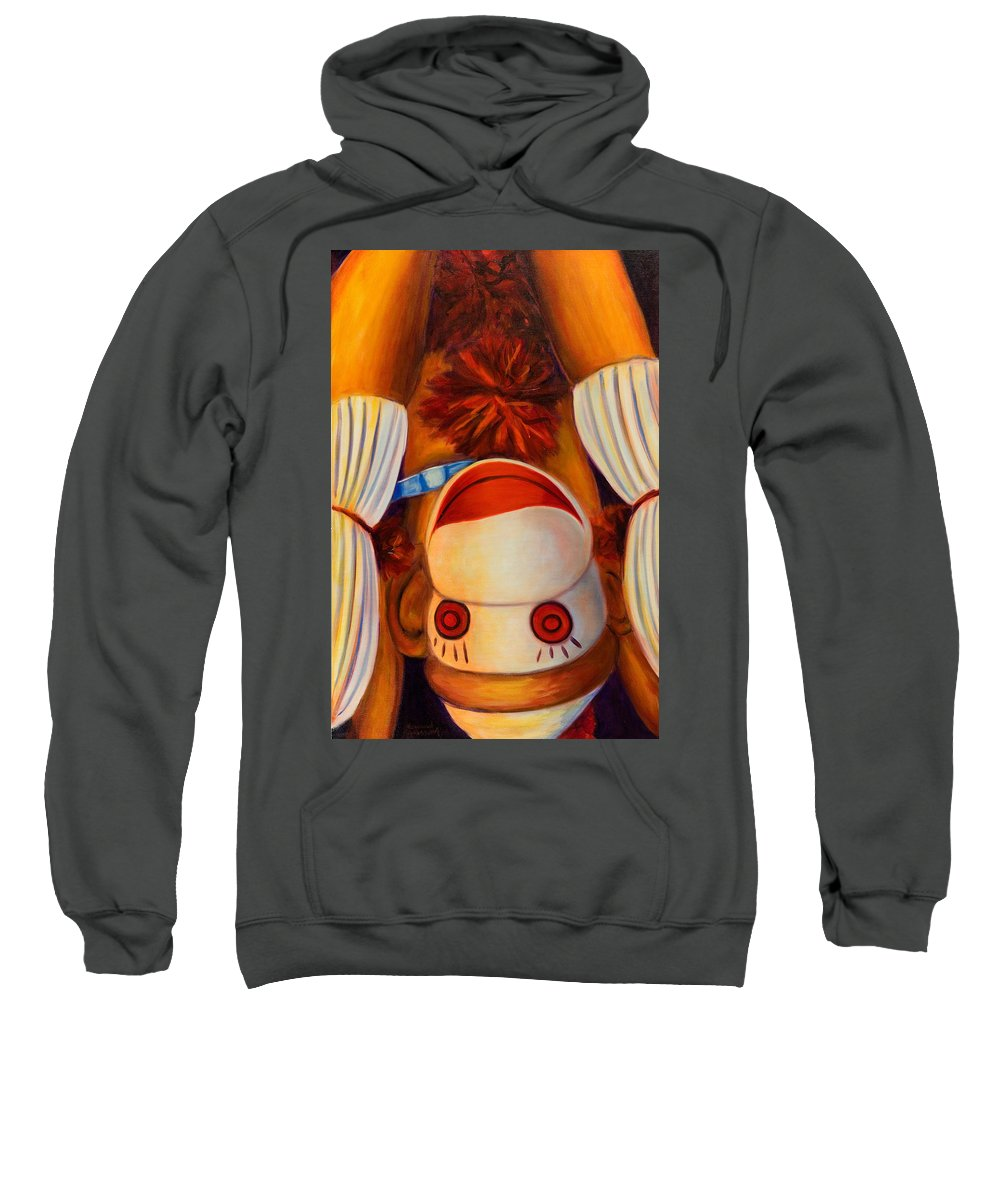 Children Sweatshirt featuring the painting Head-Over-Heels by Shannon Grissom