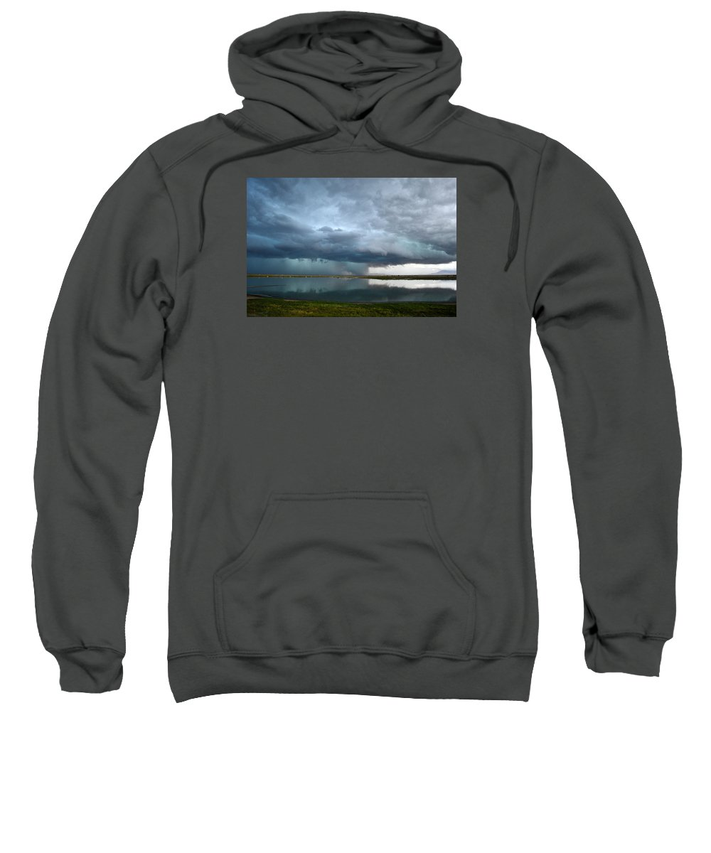 Sunset Sweatshirt featuring the photograph Headed Our Way by Brent Hall