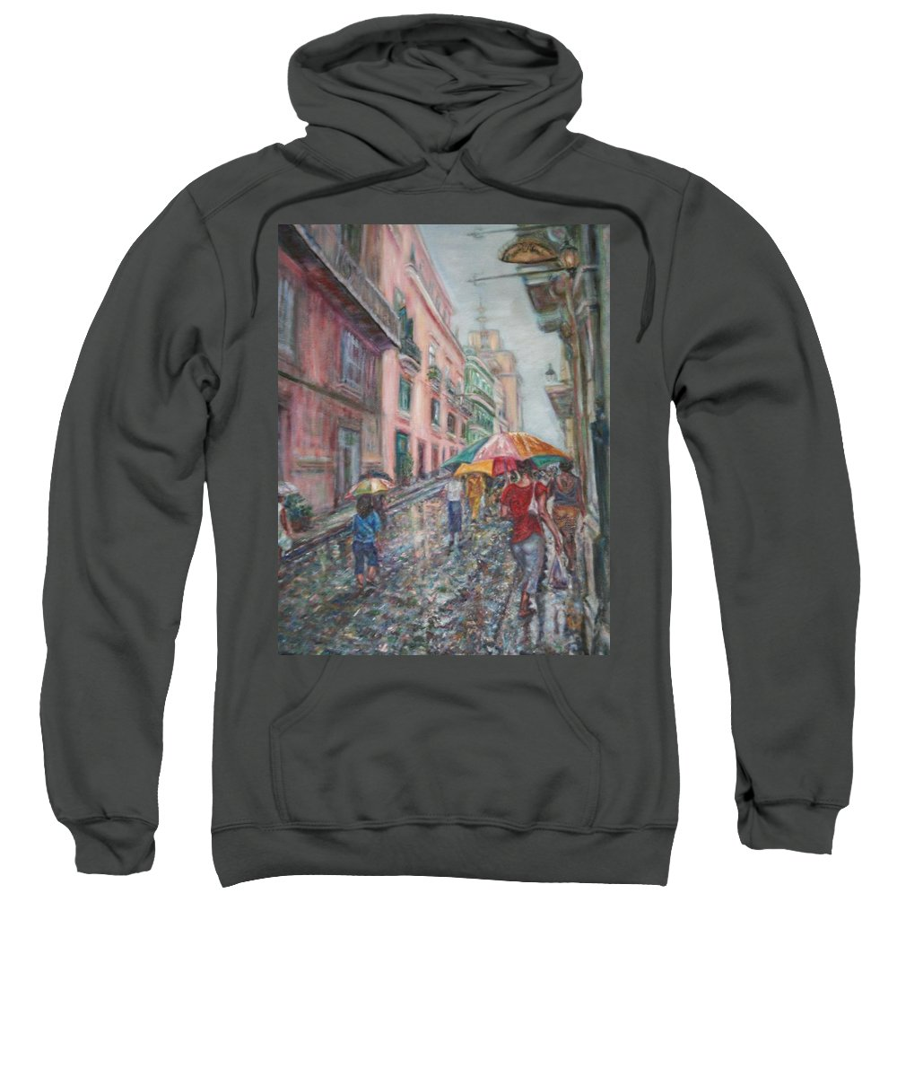 Women Sweatshirt featuring the painting Heading Home In Havava by Quin Sweetman