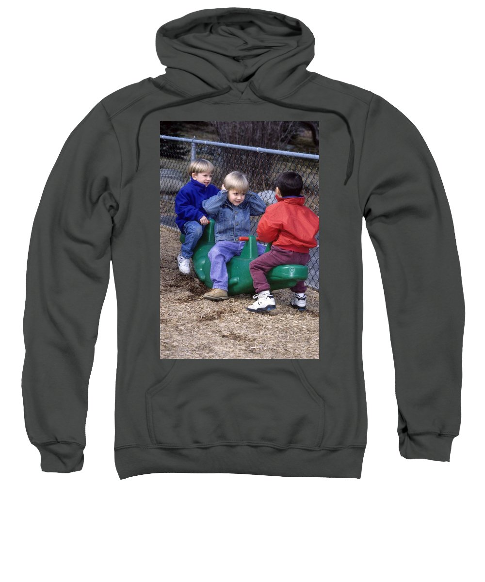 Children Sweatshirt featuring the photograph Hear No Evil See No Evil Speak No Evil by Laurie Paci