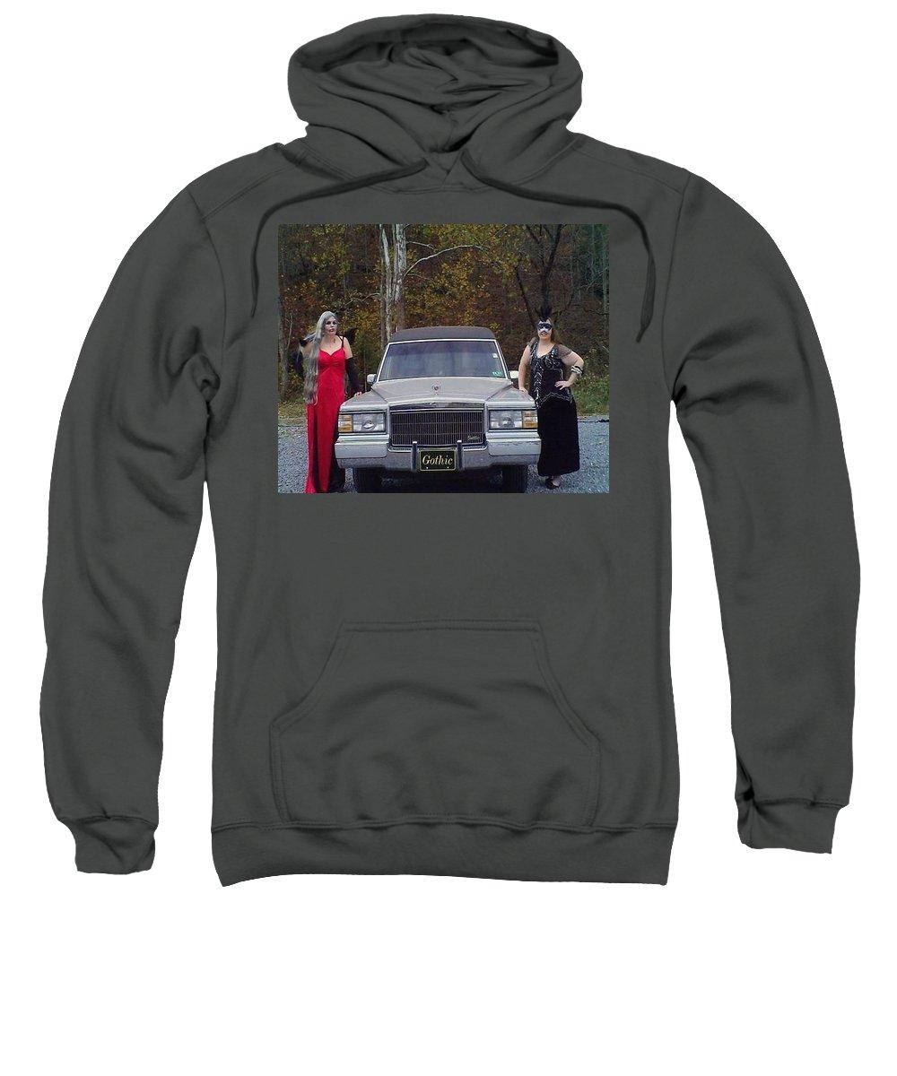 Hearse Sweatshirt featuring the photograph Hearse'n Around by Larry Maynard