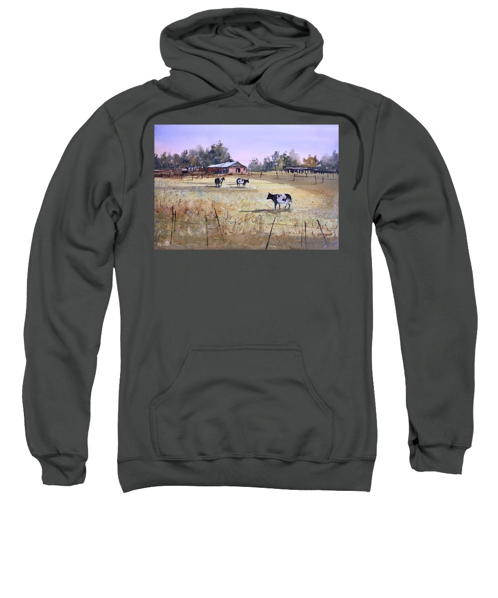 Ryan Radke Sweatshirt featuring the painting Heart Of Wisconsin by Ryan Radke