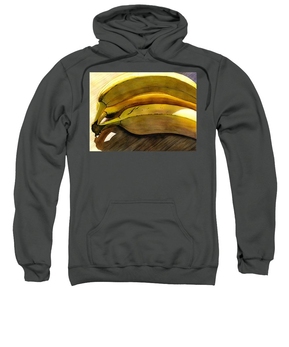 Bananas Sweatshirt featuring the painting Heart Smart by Catherine G McElroy
