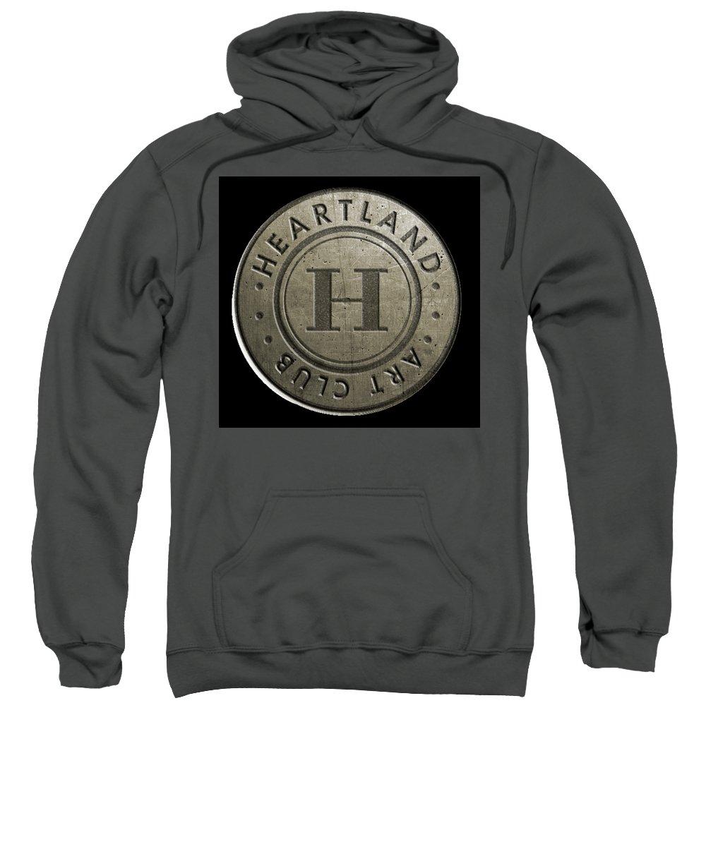 Logo Sweatshirt featuring the digital art Heartland by Shawn Cornell