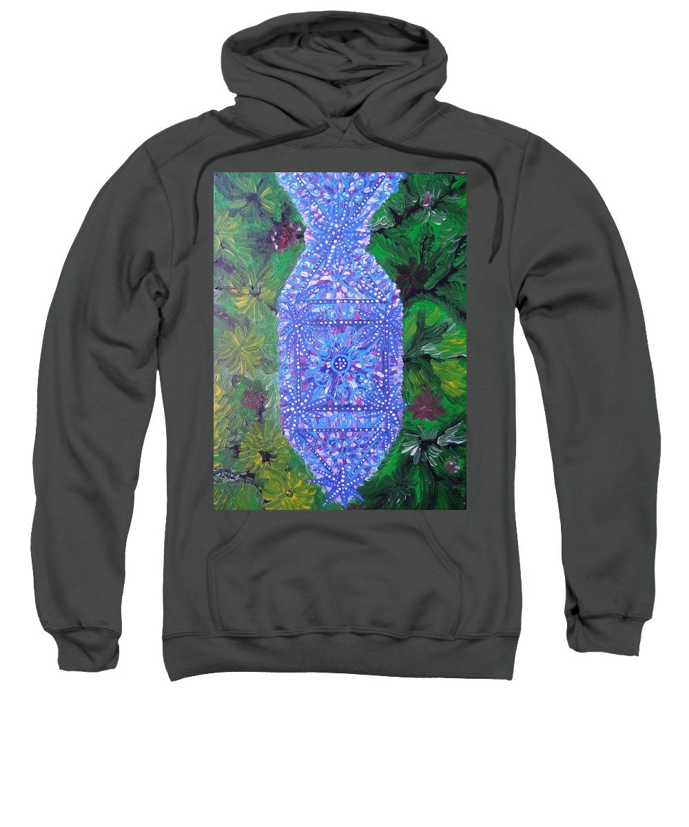 Ancient Symbol Sweatshirt featuring the painting Heaven-earth Connection by Joanna Pilatowicz