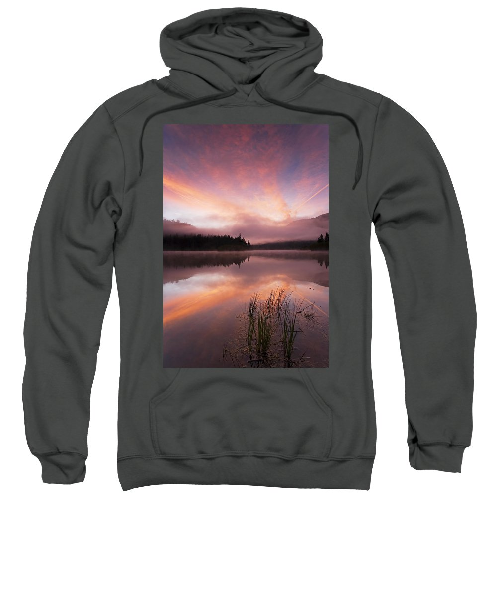 Sunrise Sweatshirt featuring the photograph Heavenly Skies by Mike Dawson