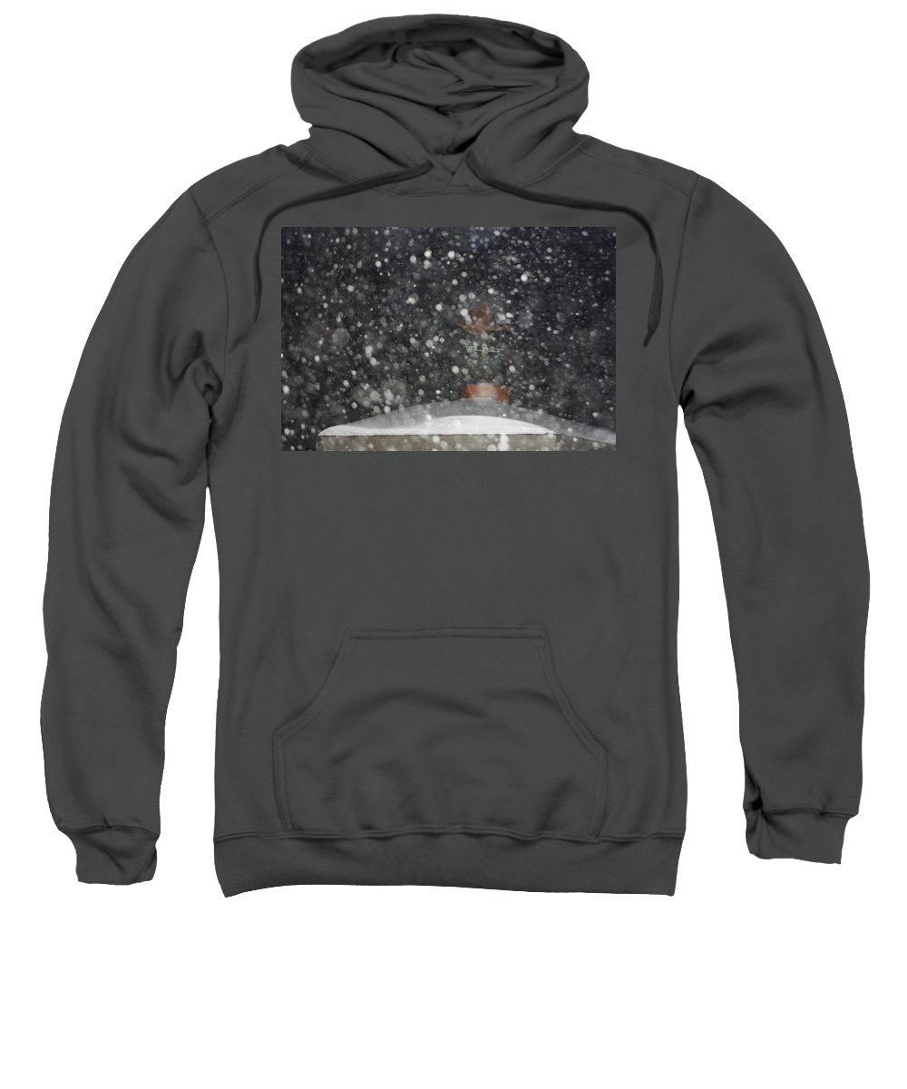 Snow Sweatshirt featuring the photograph Heavy Snow by Alice Markham