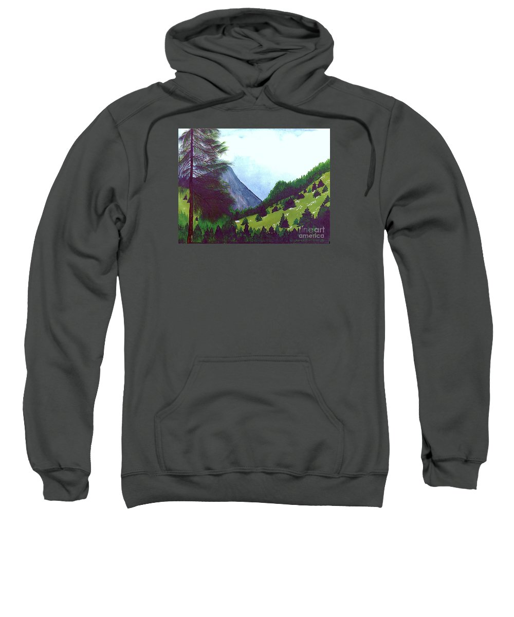 Original Painting Sweatshirt featuring the painting Heidi's Place by Patricia Griffin Brett