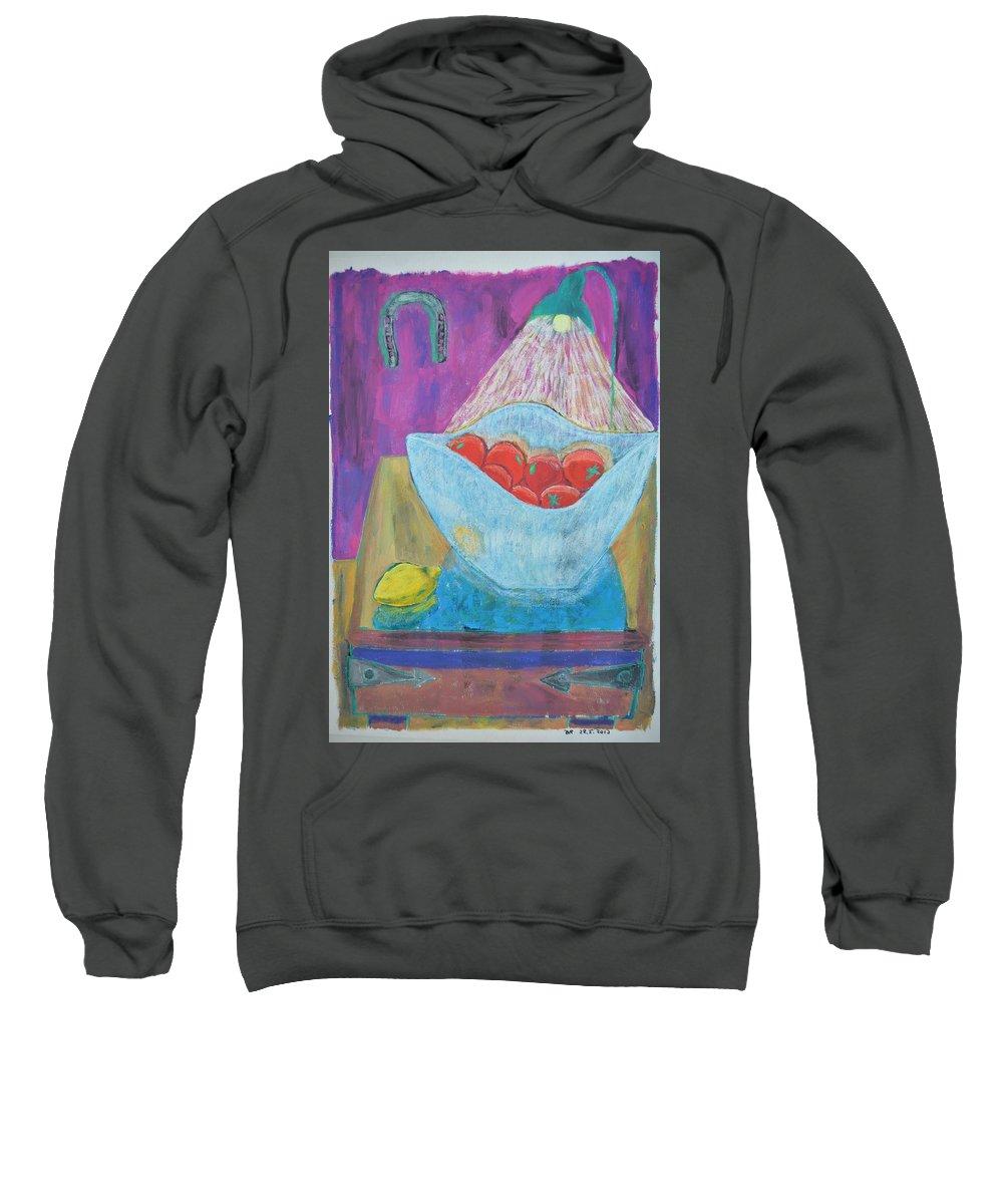 Sweatshirt featuring the painting Heldet 2012 by Dan Rasmussen