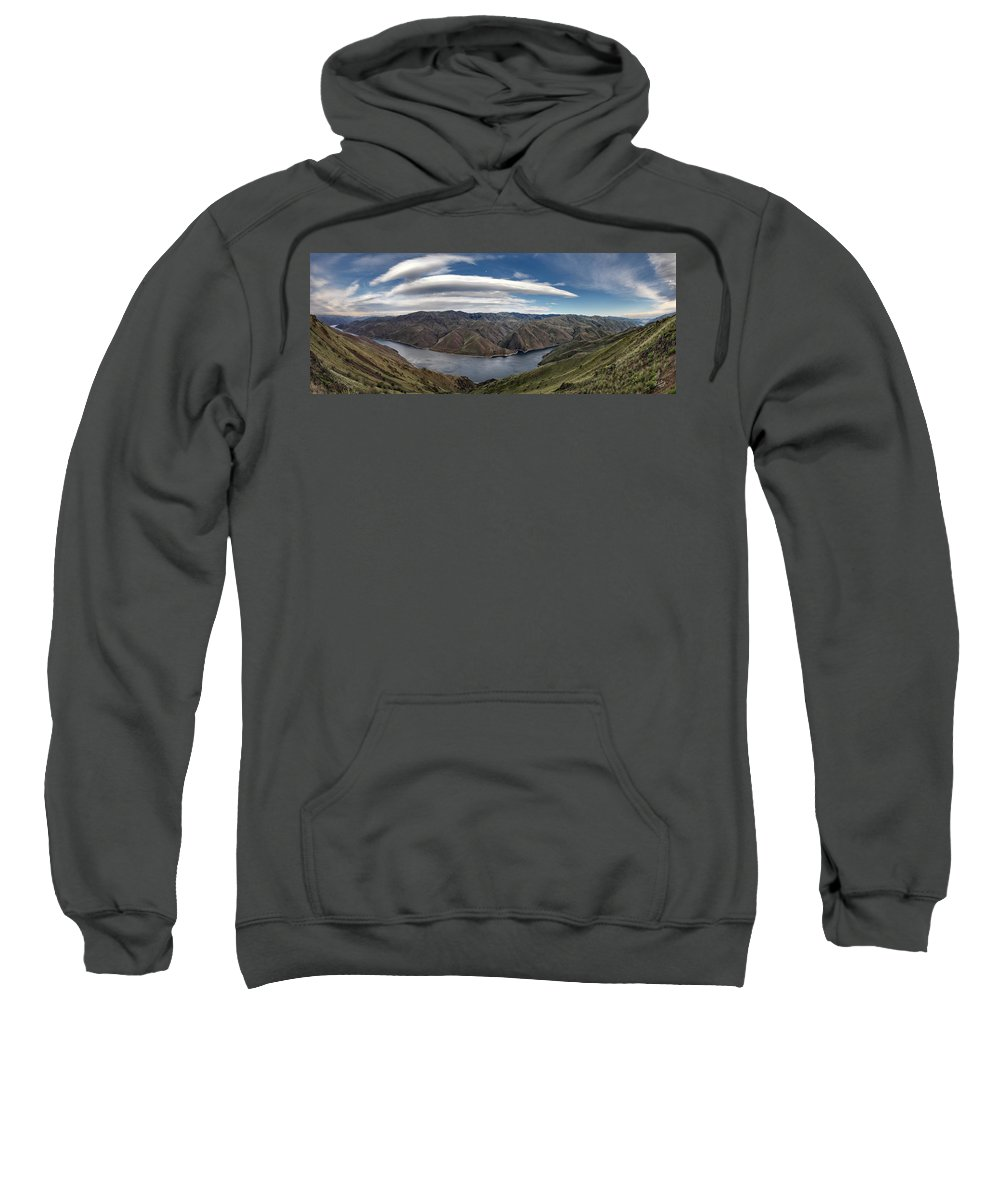 Altitude Sweatshirt featuring the photograph Hells Canyon Panoramic by Leland D Howard