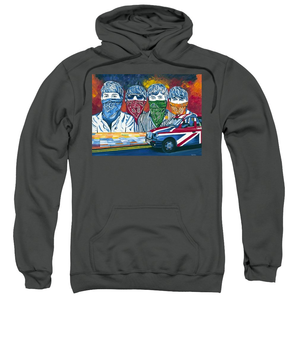 Doors Sweatshirt featuring the painting Help by Gustavo Oliveira