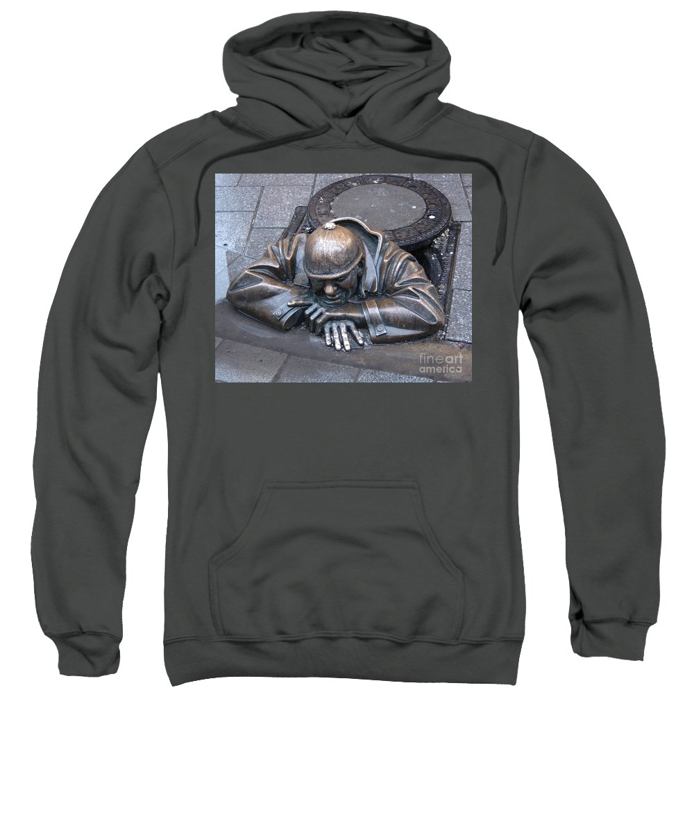 Man Sweatshirt featuring the photograph Help Me Out by Mary Rogers