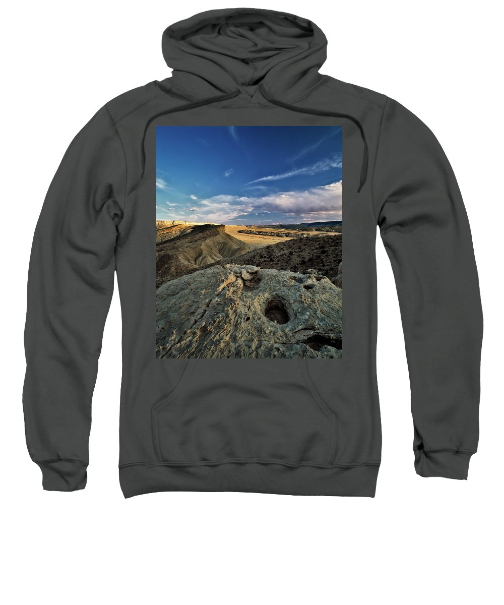Utah Sweatshirt featuring the photograph Henry Mountain Wsa by Leland D Howard