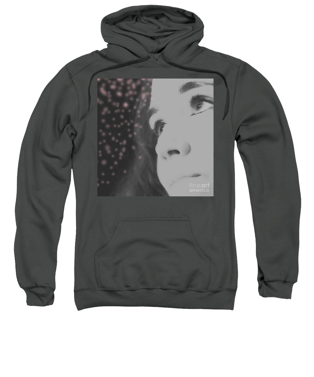Faces Sweatshirt featuring the photograph Her Energy by Amanda Barcon