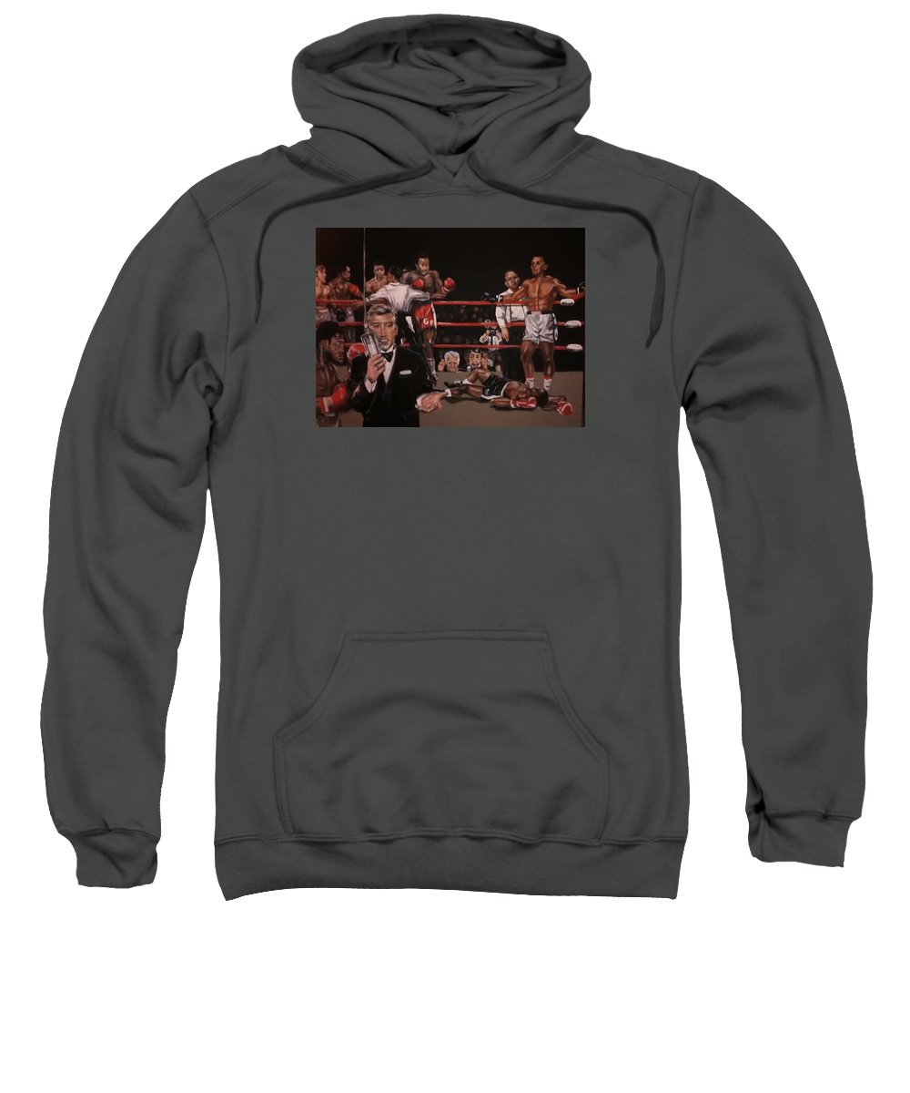 Boxing Sweatshirt featuring the painting Here We Go Again by Sylvester Wofford