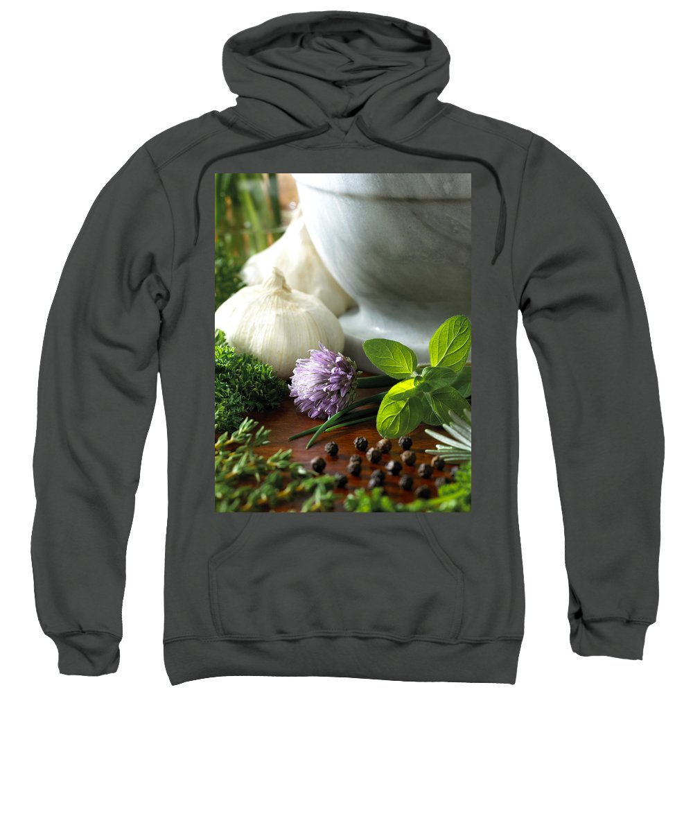 Herbs Sweatshirt featuring the photograph Herbs by Daniel Troy