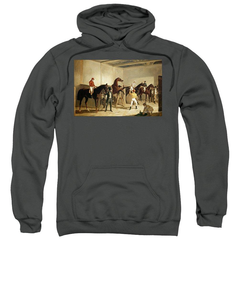19th Century Sweatshirt featuring the painting Herring, Racing, 1845 by Granger