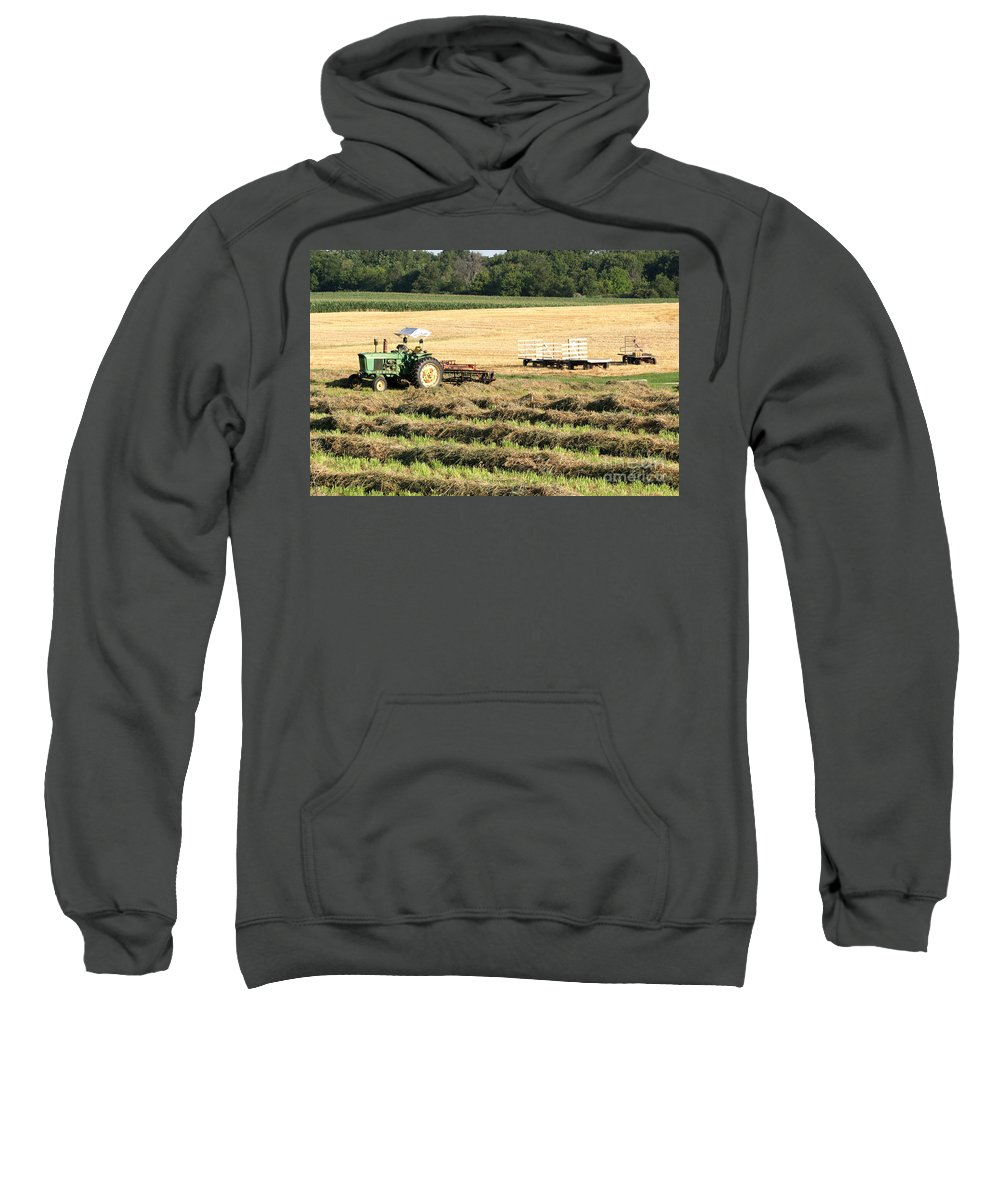 Agriculture Sweatshirt featuring the photograph Hey Hay by Alan Look
