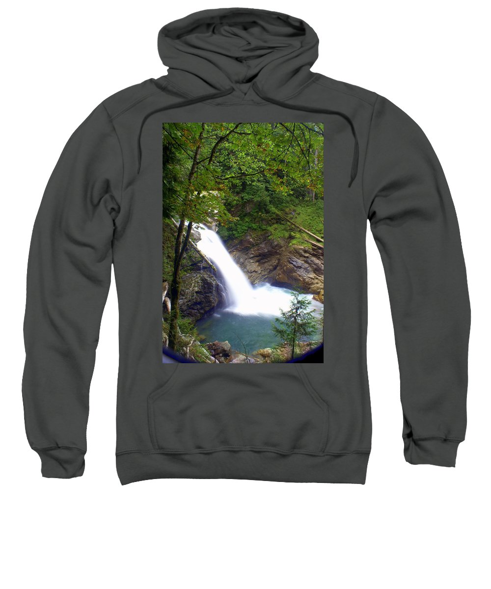 Waterfall Sweatshirt featuring the photograph Hidden Falls by Marty Koch