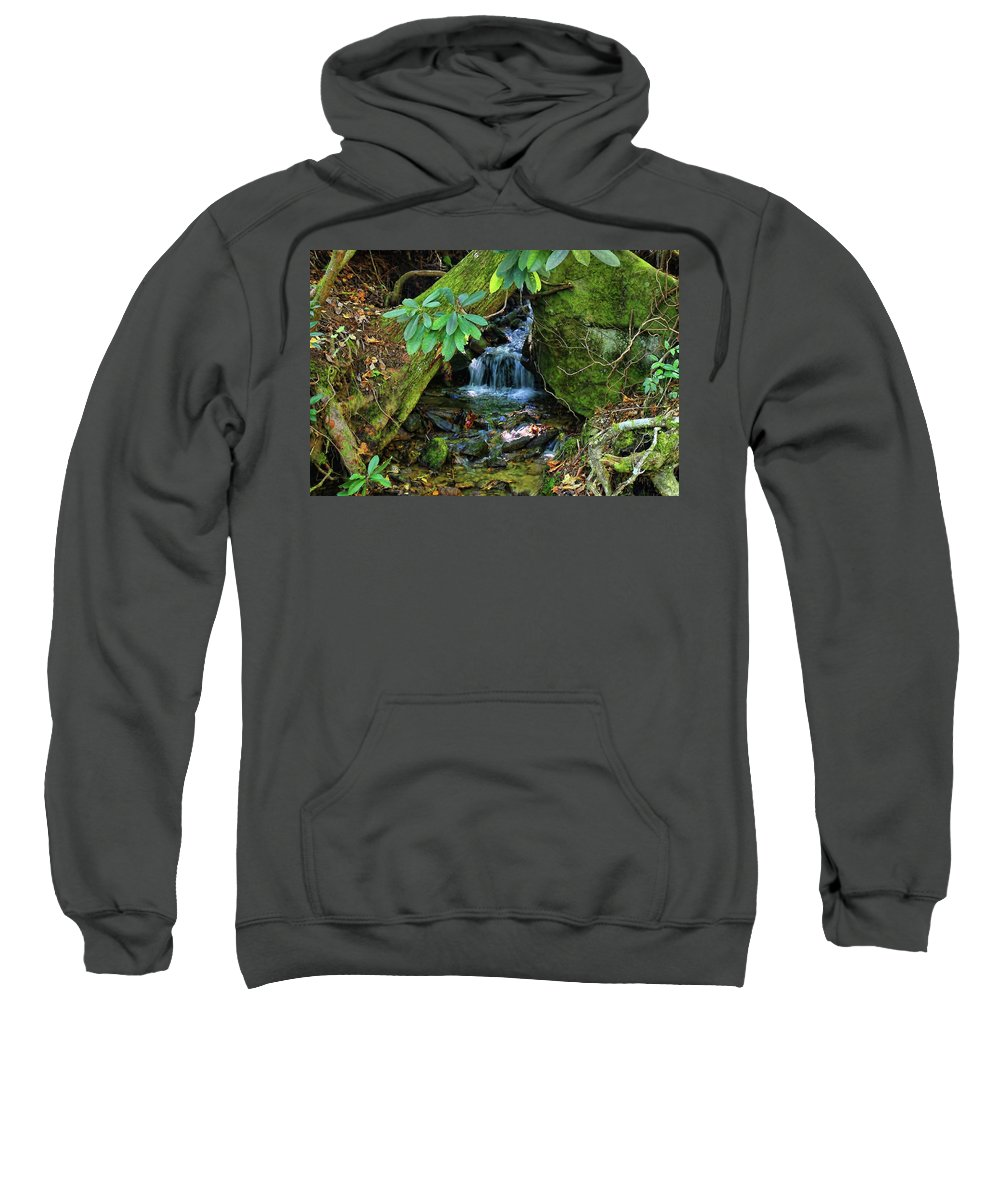 Waterfall Sweatshirt featuring the photograph Hidden Treasures by HH Photography of Florida