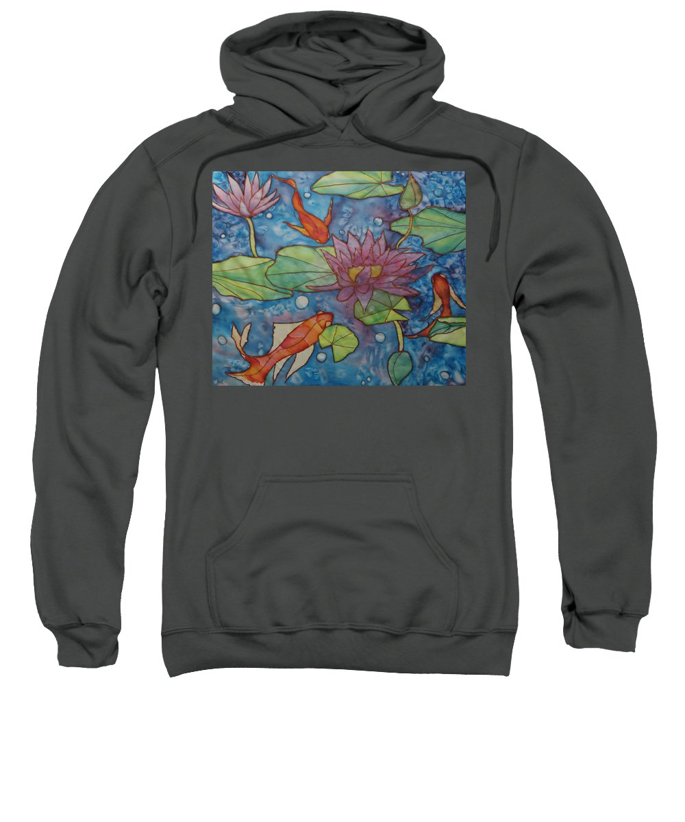 Gold Fish Sweatshirt featuring the painting Hide And Seek by Ruth Kamenev