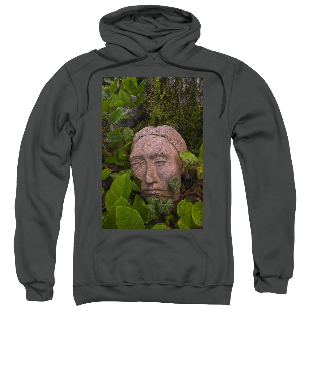 Face Sweatshirt featuring the photograph Hiding by Hans Franchesco