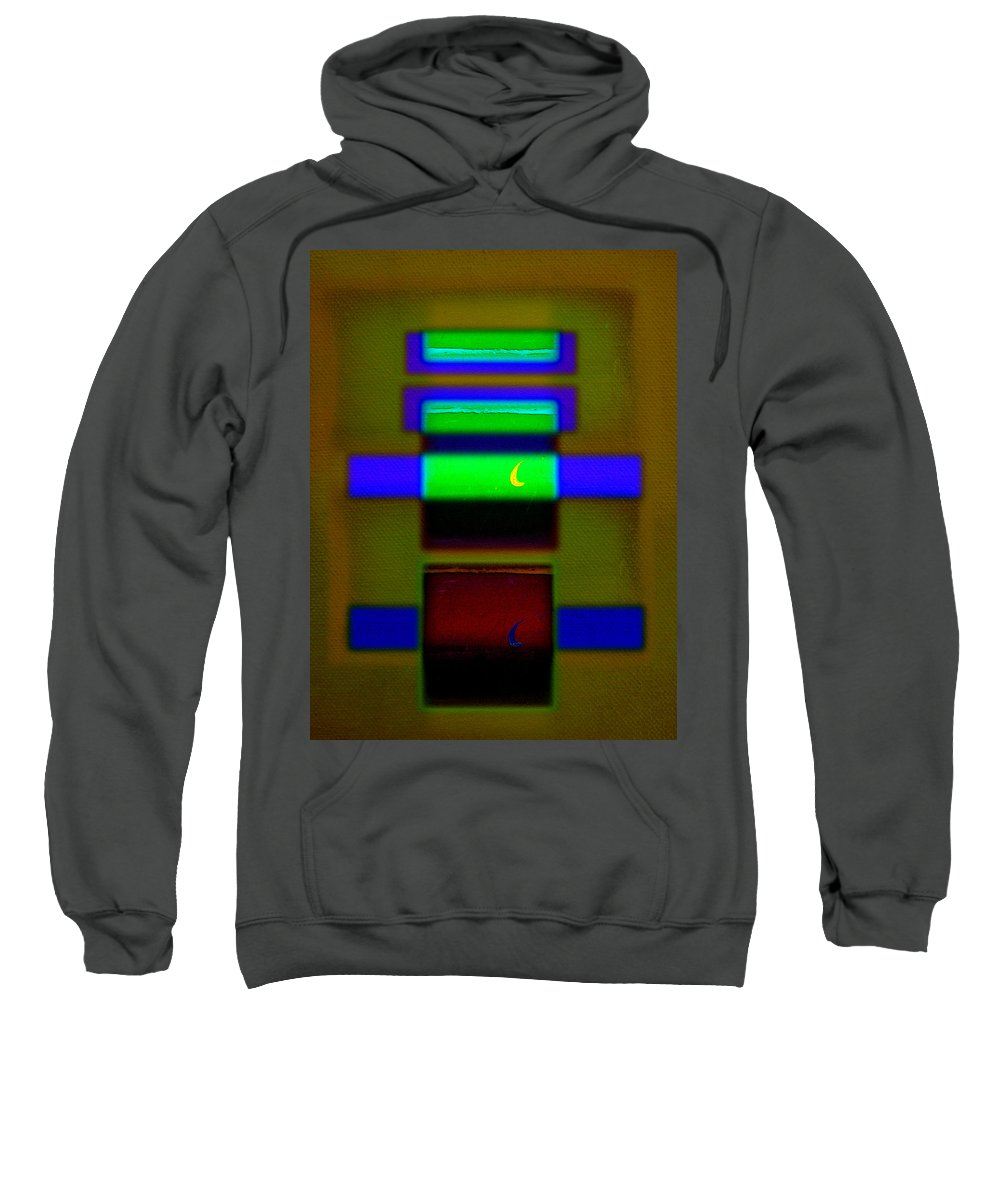 Rothko Sweatshirt featuring the painting Hieroglyphic by Charles Stuart