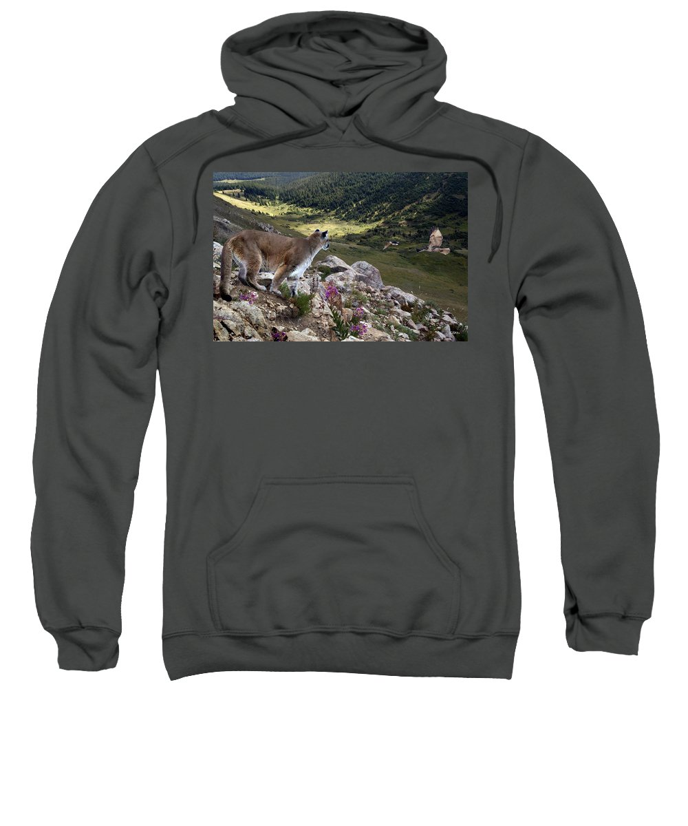 Wildlife Sweatshirt featuring the digital art High And Wild by Bill Stephens