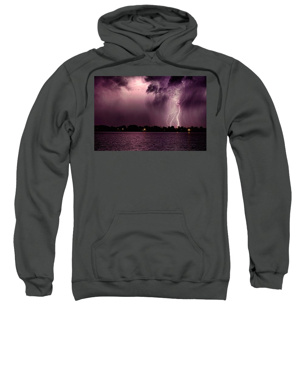 Lightning Sweatshirt featuring the photograph High Strike by James BO Insogna