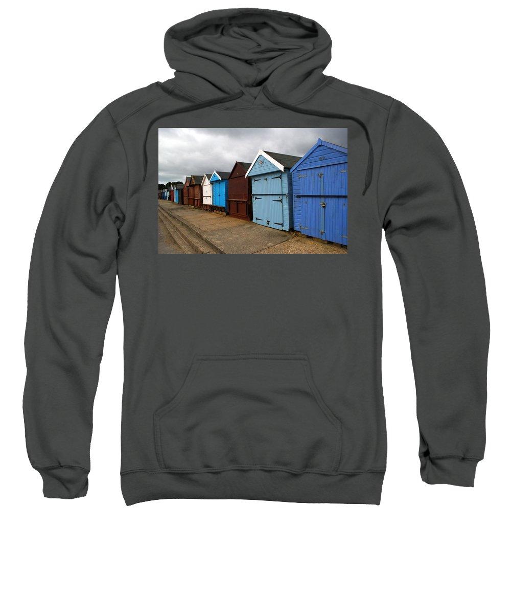 Beach Hut Sweatshirt featuring the photograph Highcliffe Huts 4 by Chris Day