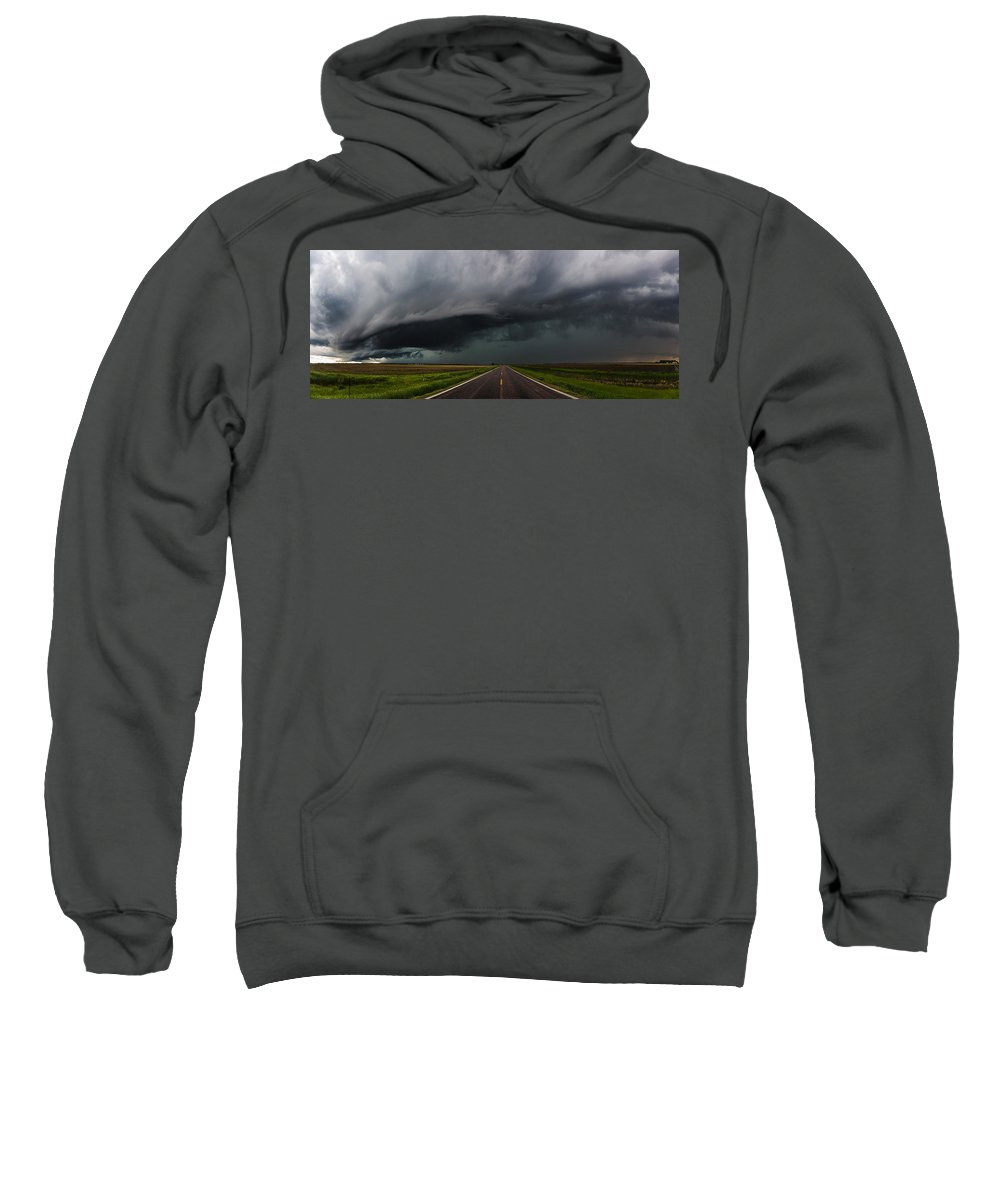 Storms Sweatshirt featuring the photograph Highway To Hell by Aaron J Groen