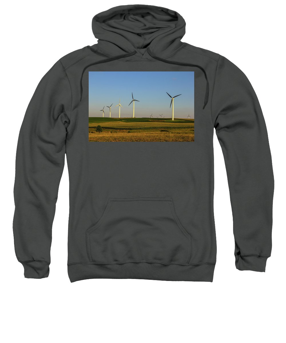 Windmill Sweatshirt featuring the photograph Hill Country by Peter Bouman
