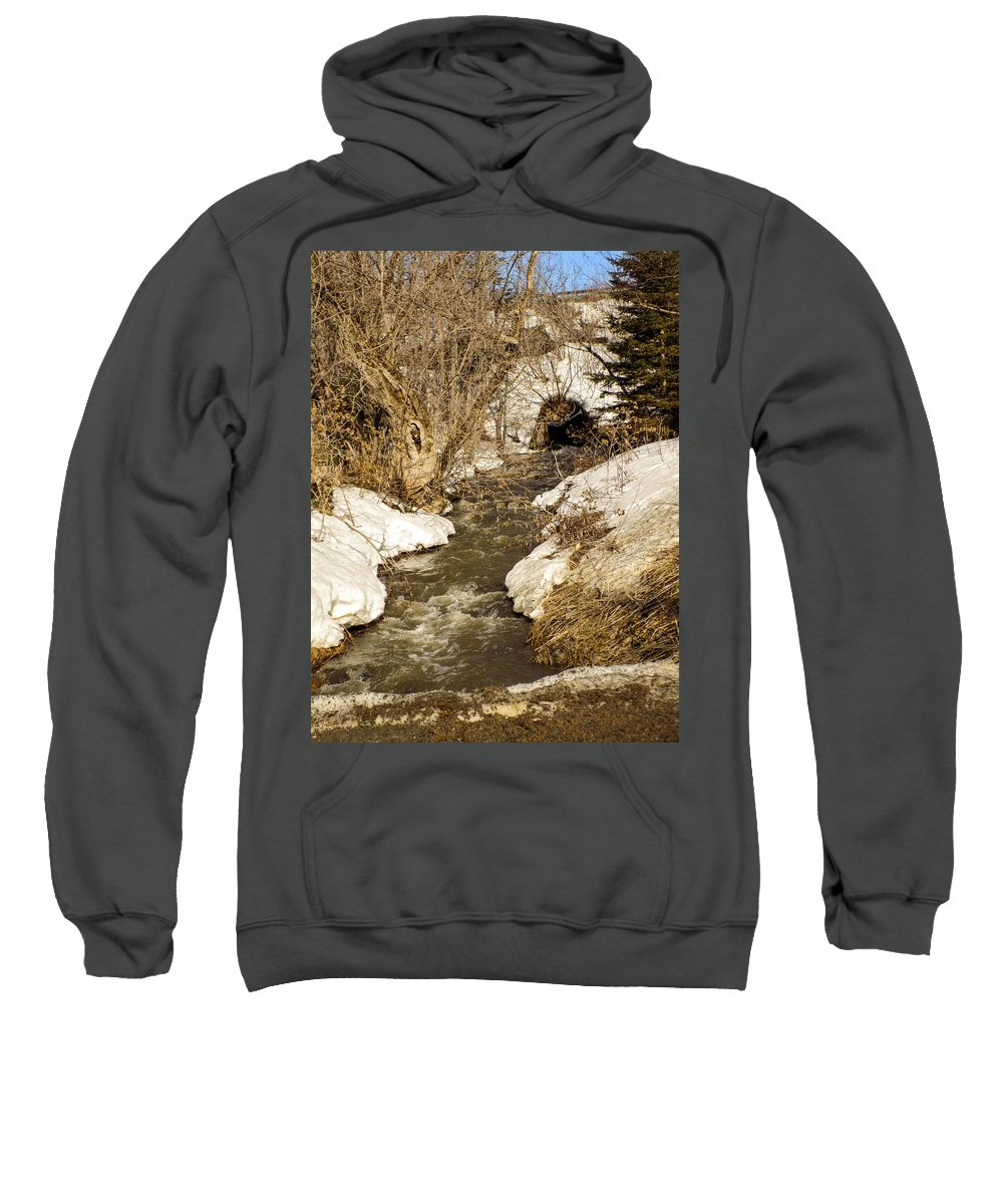 Spring Sweatshirt featuring the photograph Hill Drain 2 by William Tasker