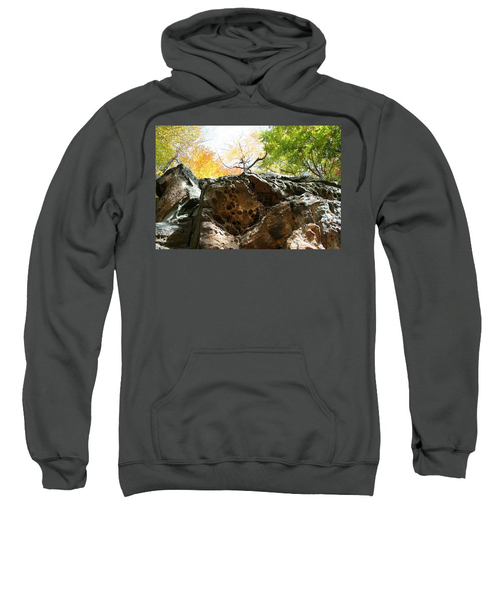 Rocks Sweatshirt featuring the photograph Hinkleys Hollows by Angela Hansen