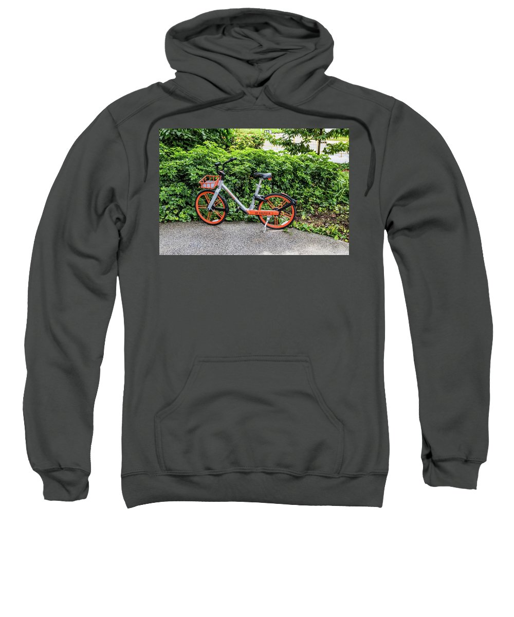 Hire Sweatshirt featuring the photograph Hire Bike by David Rolt