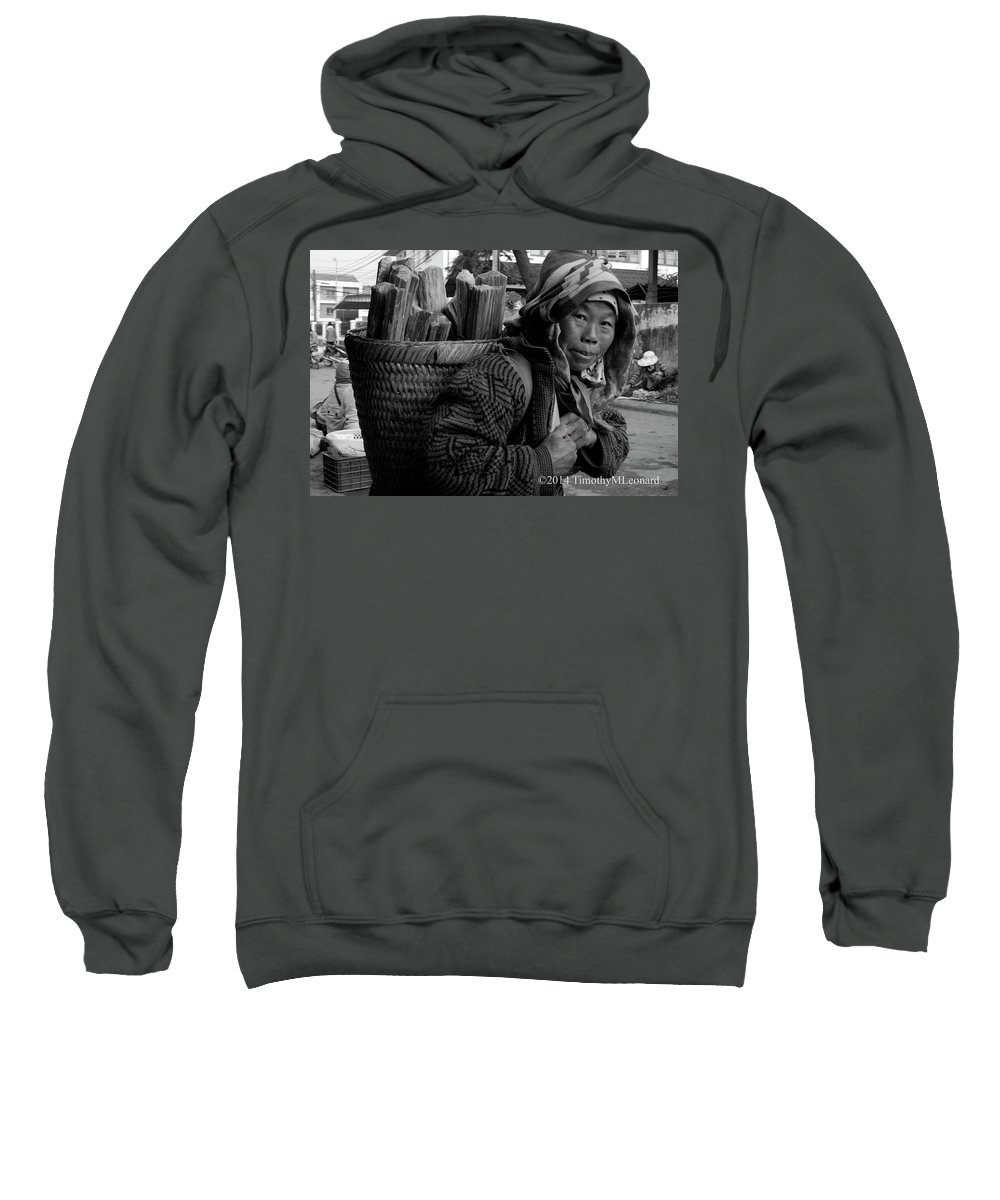 H'mong Sweatshirt featuring the photograph H'mong Woman by Timothy Leonard