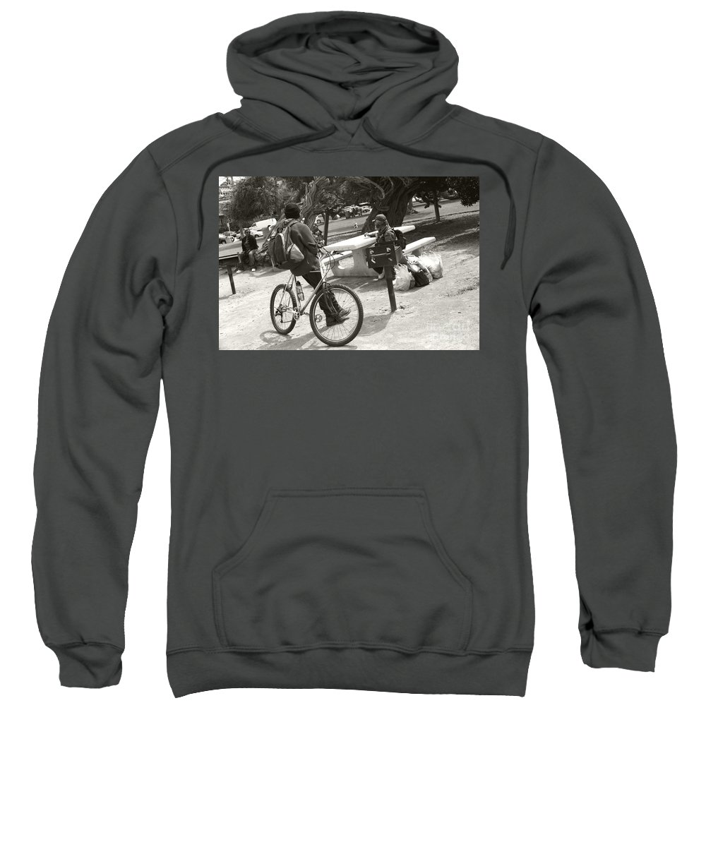 Homeless Sweatshirt featuring the photograph Holding Court by Heather Kirk