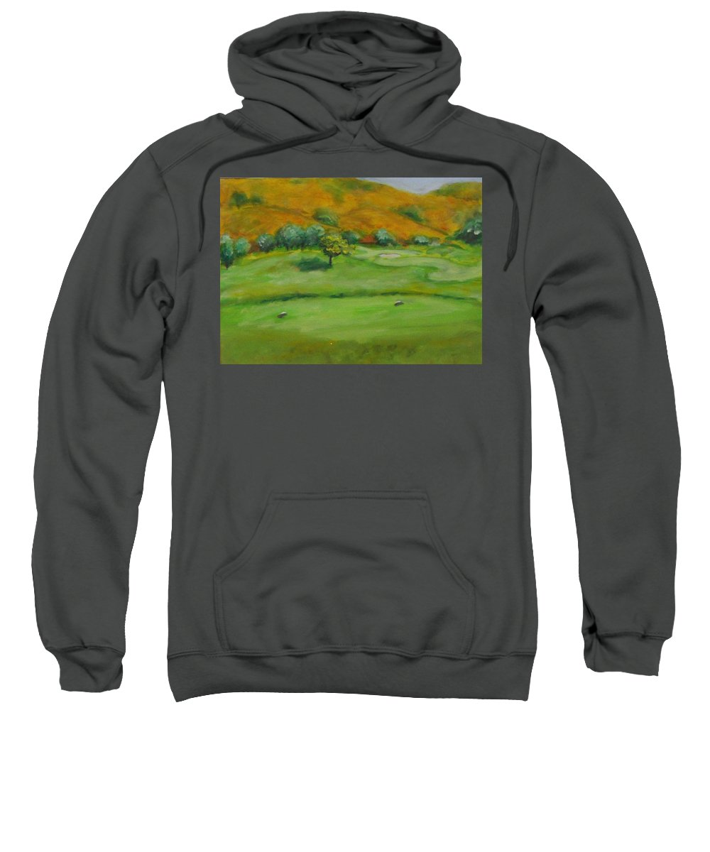 Golf Sweatshirt featuring the painting Hole 4 Outward Bound by Shannon Grissom