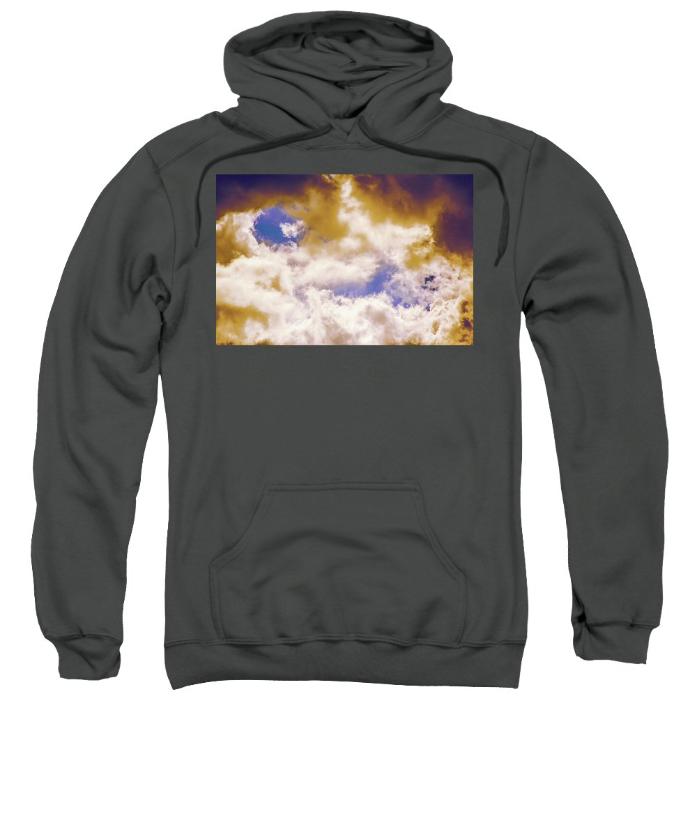 Cloud Sweatshirt featuring the photograph Hole In The Cloud by Michael Frizzell